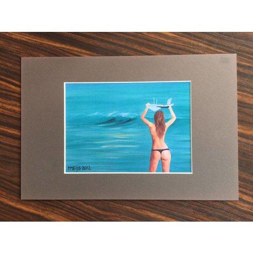 SurfArt SurfArt Surfer Met Board Print