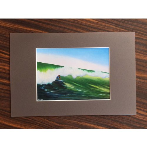 SurfArt SurfArt Surfer In De Golf Print