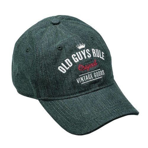 Old Guys Rule Old Guys Rule Aged To Perfection Denim Green Cap