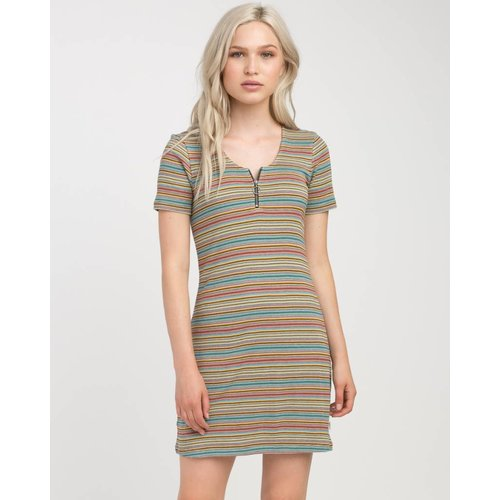 RVCA RVCA Dames Zip It Ribbed Multi Dress
