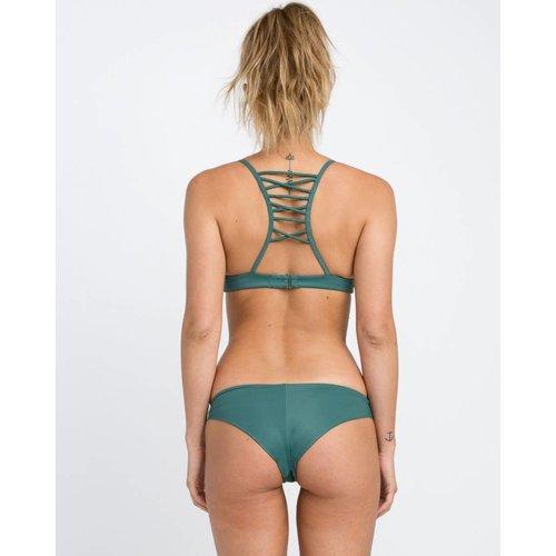 RCVA RCVA Dames Solid Cheeky Mallard Green Bikini Bottom