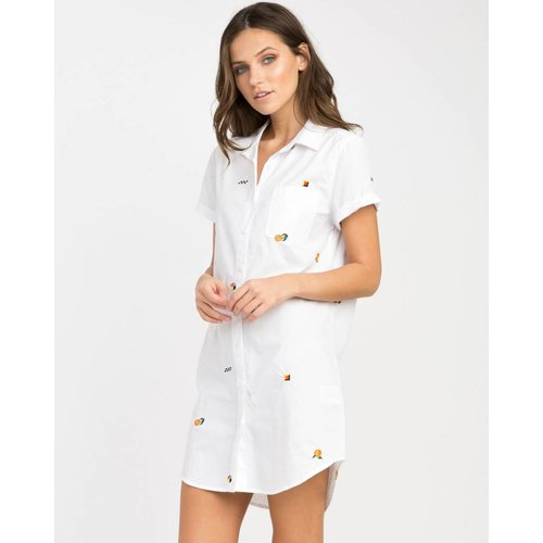 RCVA RCVA Dames Ditz White Shirt Dress