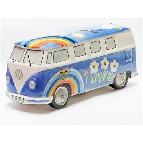Van One VW Spaarpot Bulli T1 Hippie Licht Blauw