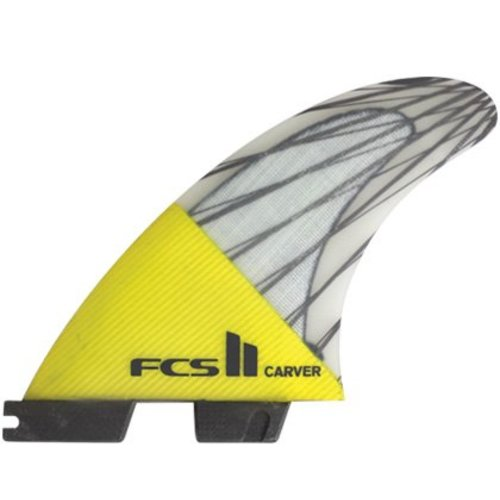 FCS FCS II Carver PC Carbon Yellow Thruster Fins