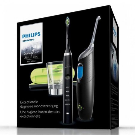 Philips gebitsverzorgingsset DiamondClean & AirFloss Ultra zwart HX8491/03