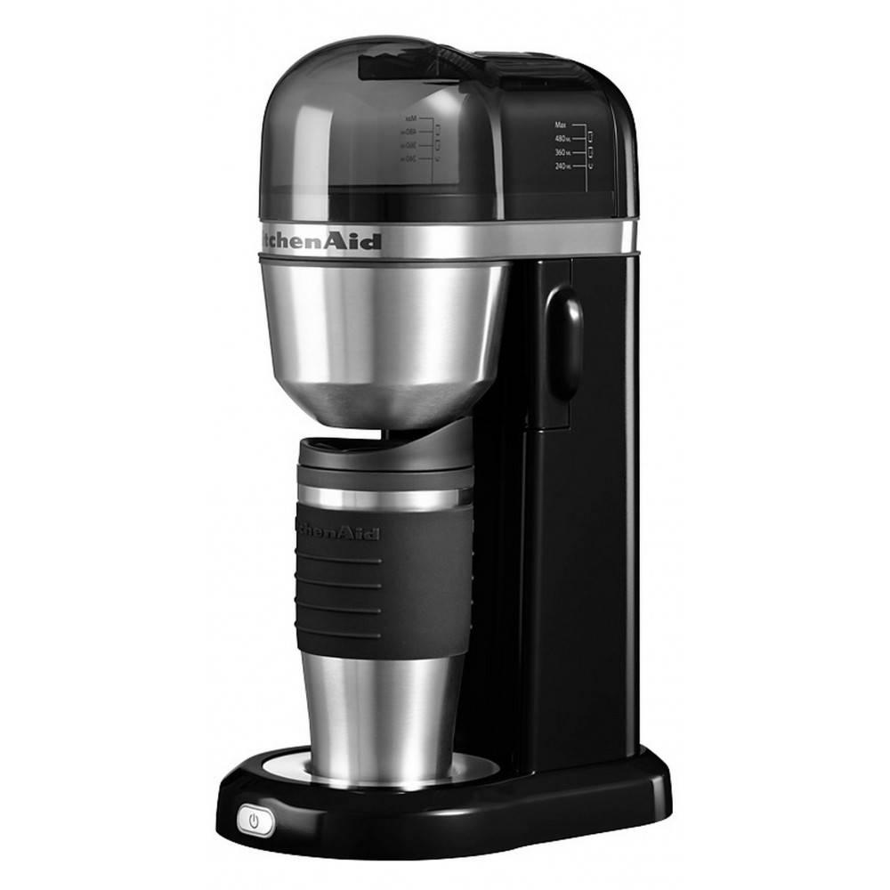 Kitchenaid Koffiezetapparat met thermosbeker zwart 5KCM0402EOB