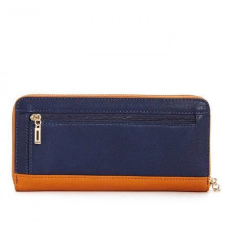 Guess Dynah dames portemonnee met studs caramel-blauw SWTM6791460