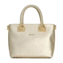 Shopping bag Small Anna light gold