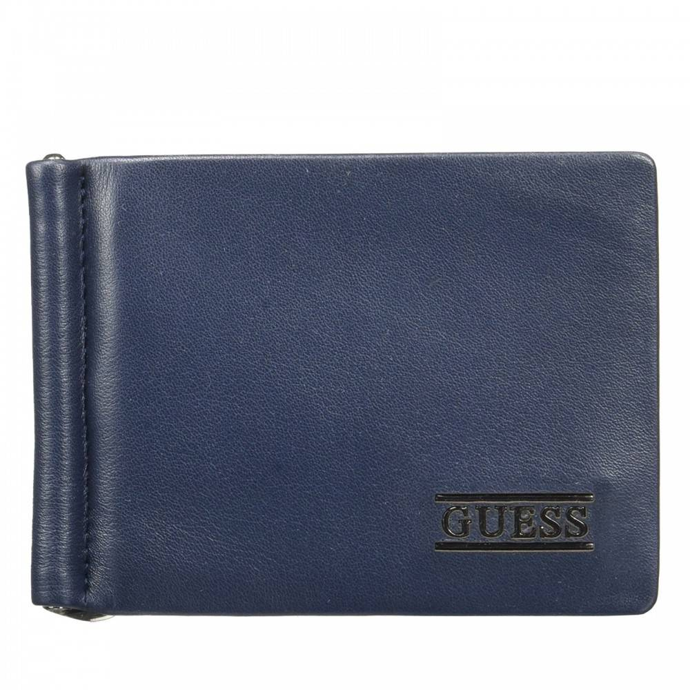 Guess New Boston Money Clip Card Case blauw SM4016LEA23