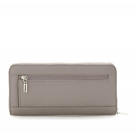 Guess portefeuille Devyn SLG Lrg Zip Around Taupe SWVG6421460