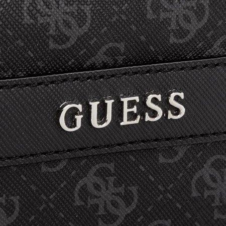 Guess Uptown logo mini messenger schoudertas zwart HM6214POL74