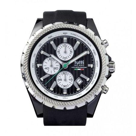 Tutti Milano Meteora Chronograaf Horloge zwart TM005 NO
