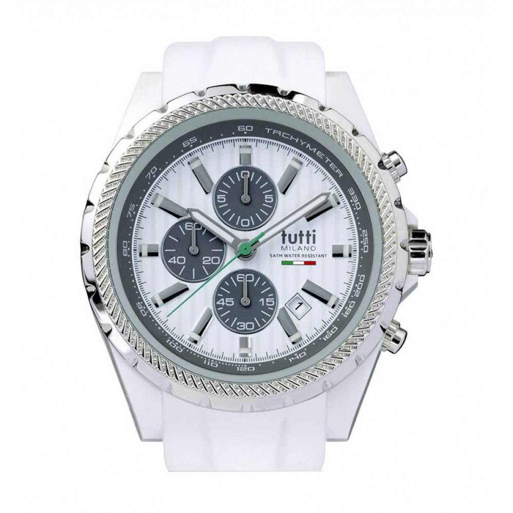 Tutti Milano Meteora Chronograaf Horloge wit TM005 WH