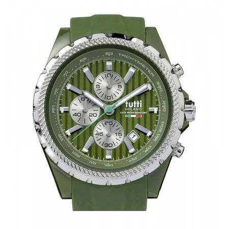 Tutti Milano Meteora Chronograaf Horloge groen TM005 AG