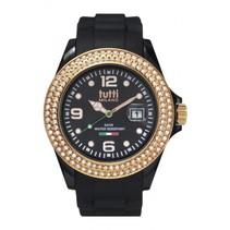 Cristallo Horloge zwart