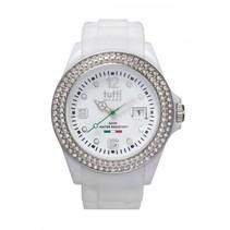 Cristallo Horloge wit