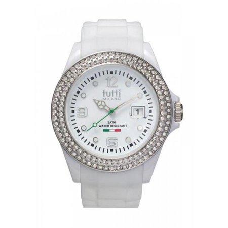 Tutti Milano Cristallo Horloge wit TM003 WH/ST/Z