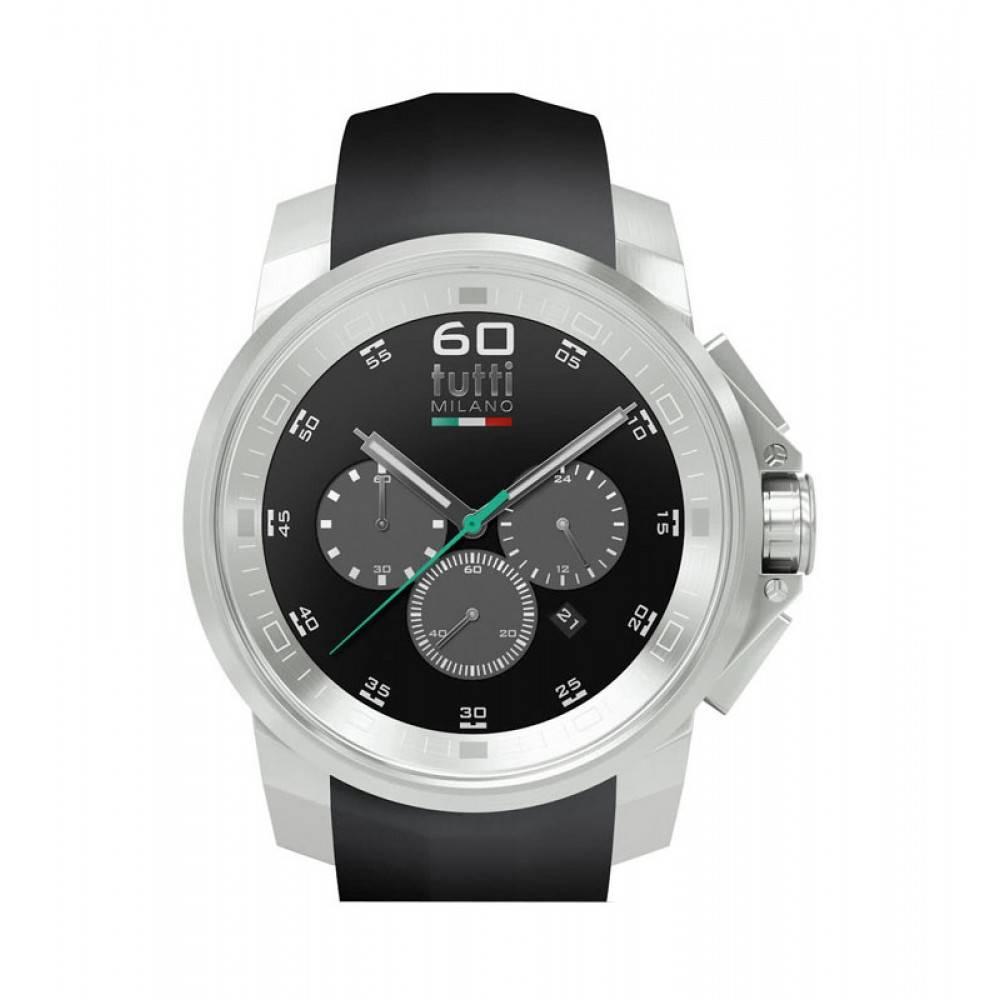 Tutti Milano Masso Chronograaf Horloge zwart TM500 ST/NO