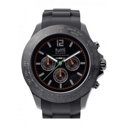 Tutti Milano Ardesia Chronograaf Horloge zwart TM102 NO/OR