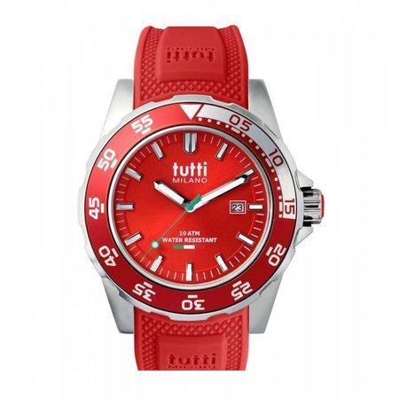 Tutti Milano Corallo Horloge rood TM900 RE
