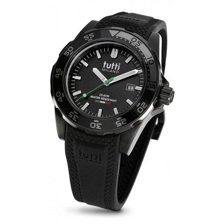Tutti Milano Corallo Horloge zwart TM900 NOP