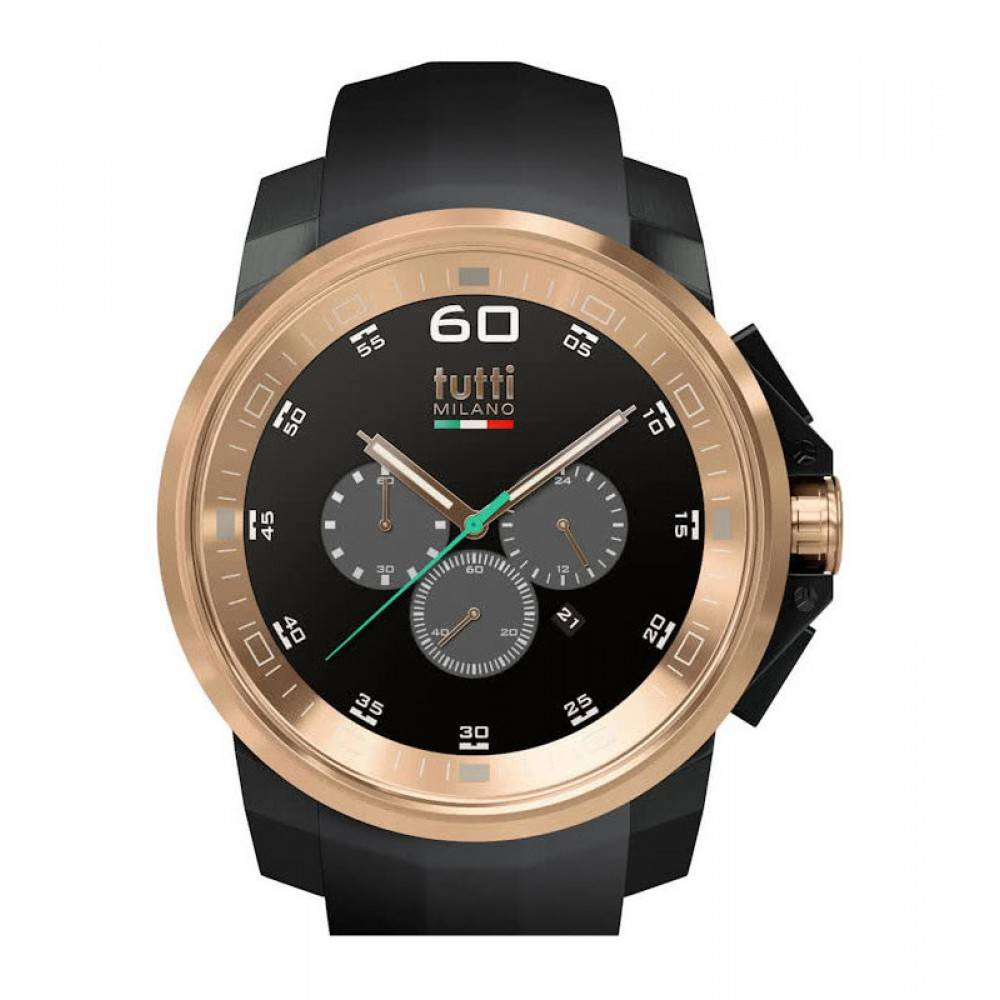 Tutti Milano Masso XL Chronograaf Horloge zwart TM501 NO/RO
