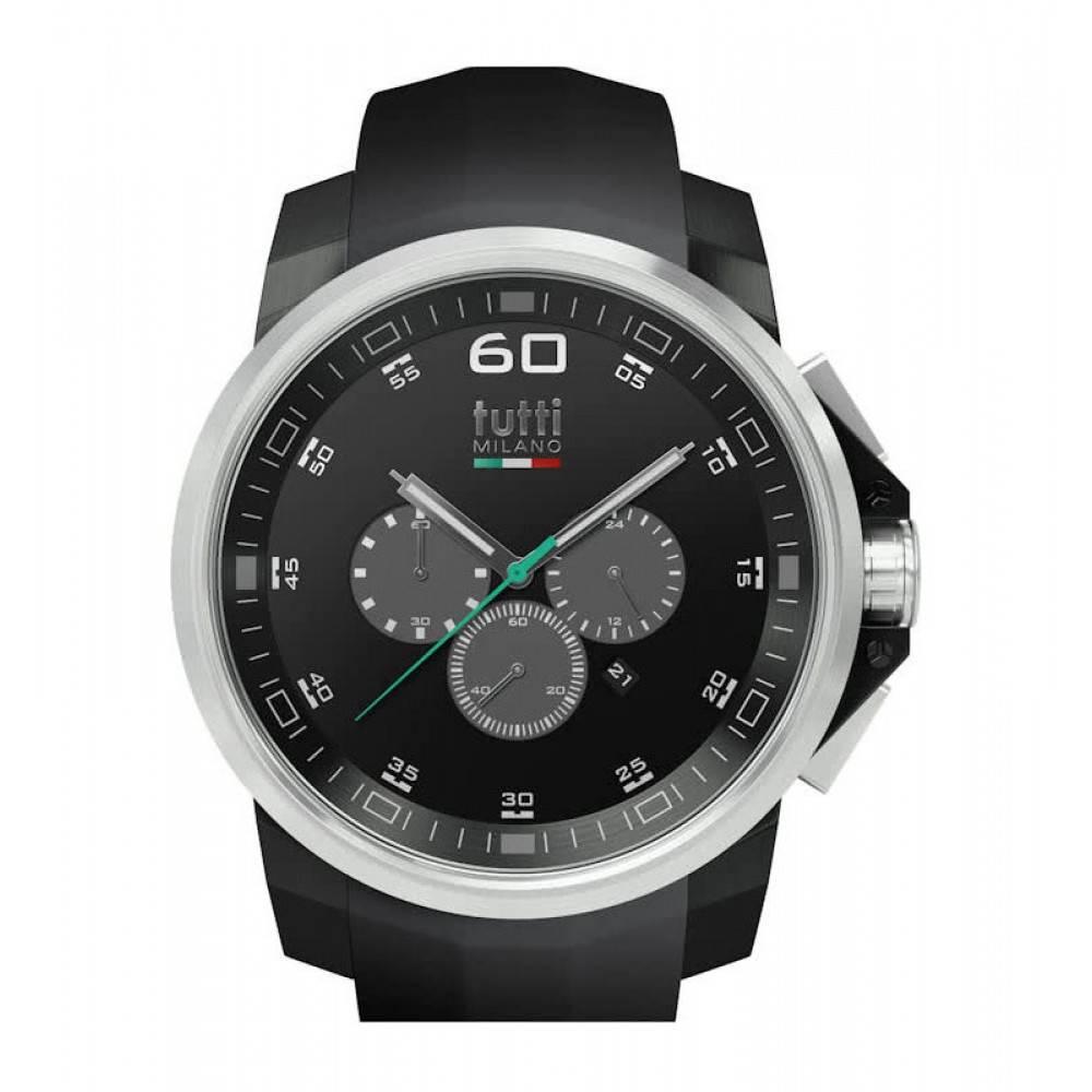 Tutti Milano Masso XL Chronograaf Horloge zwart TM501 NO/ST