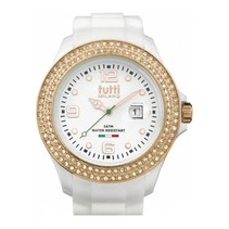 Cristallo XL Horloge wit