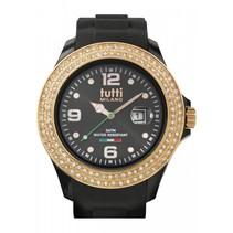 Cristallo XL Horloge zwart