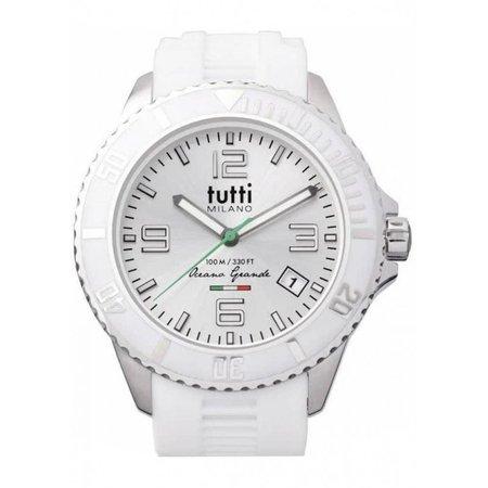 Tutti Milano Oceano Grande XL Horloge  wit TMOG001 WH