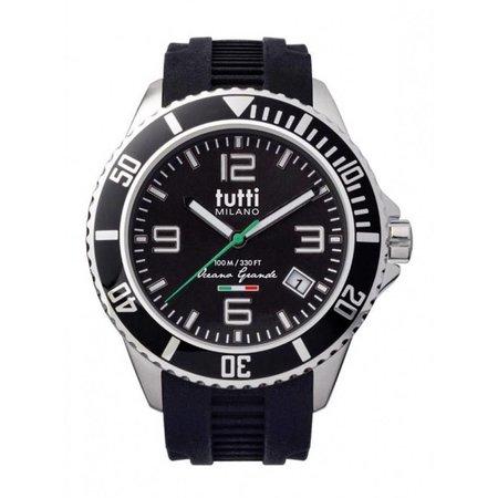 Tutti Milano Oceano Grande XL Horloge  zwart TMOG001 NO