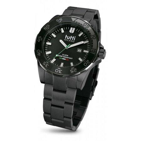 Tutti Milano Corallo XL Steel Horloge TM901 SNOP