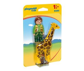 Playmobil Gardien des animaux avec girafe