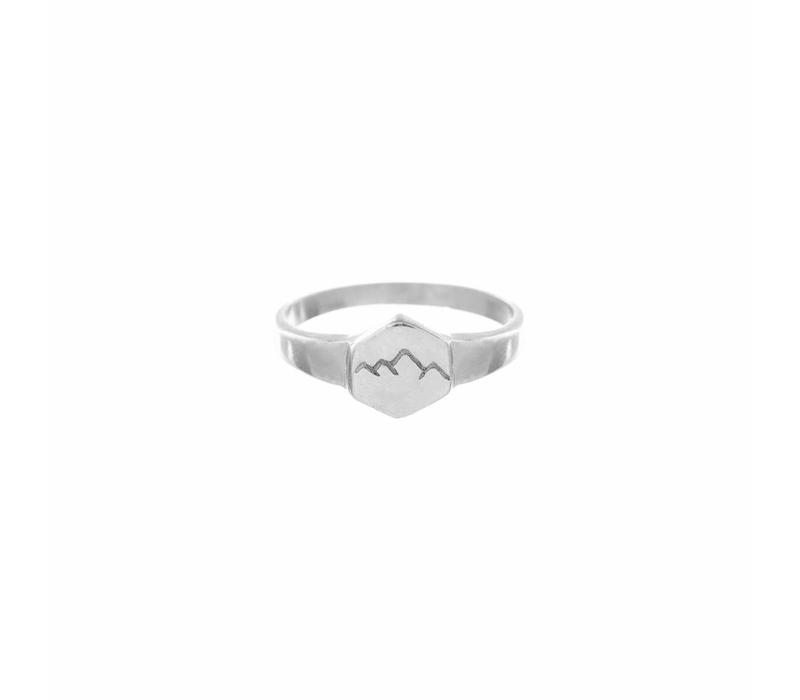 Scenic Signet Ring Zilver