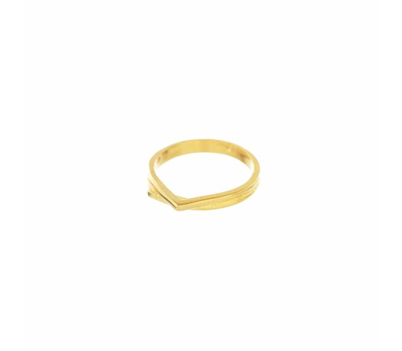 Mountain Ring Goud
