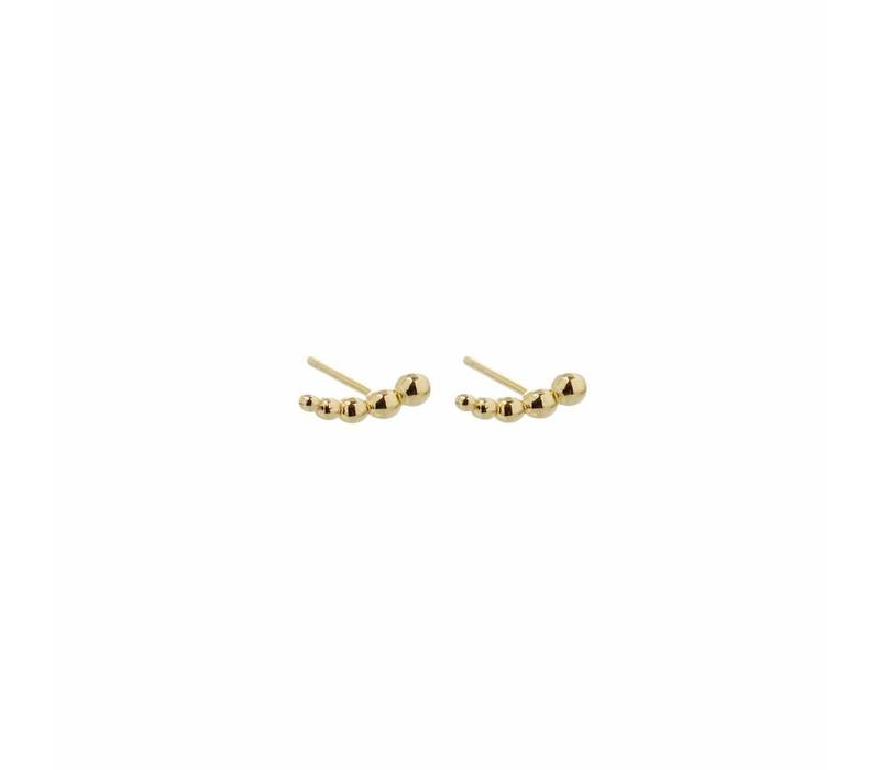 Droplet Studs Gold