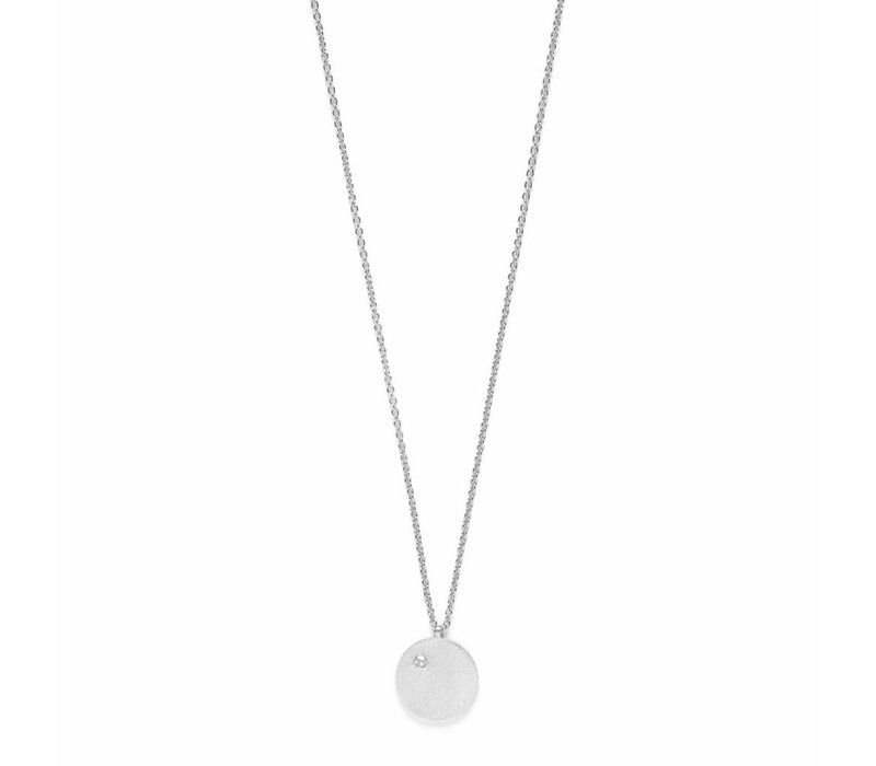 Clear Necklace Silver