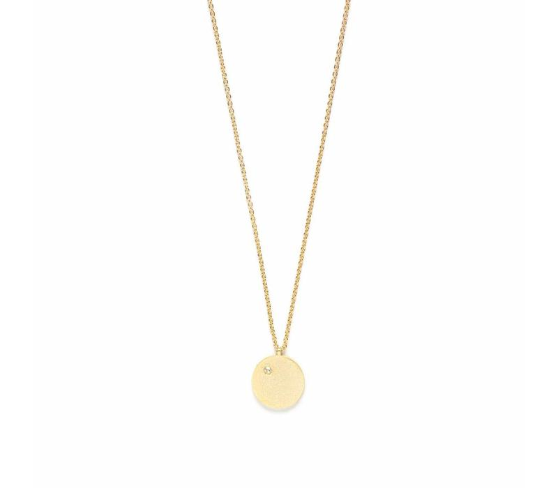 Clear Necklace Gold