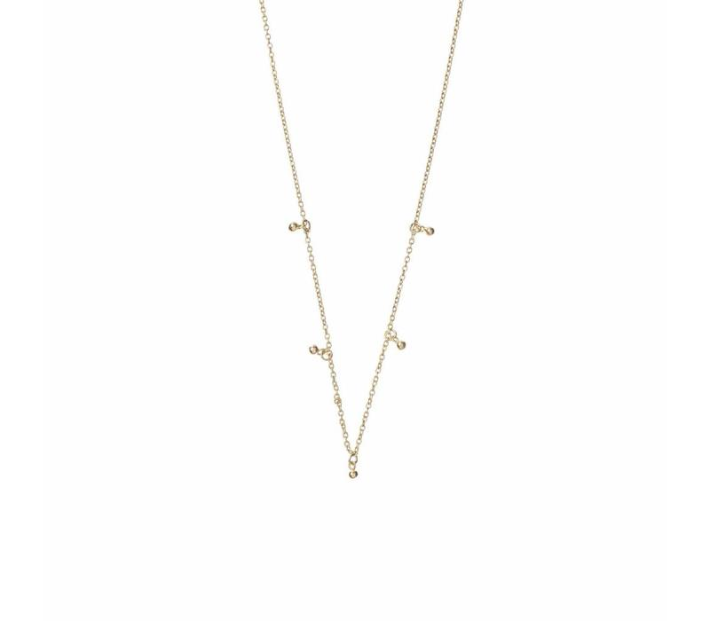 Droplet Necklace Gold