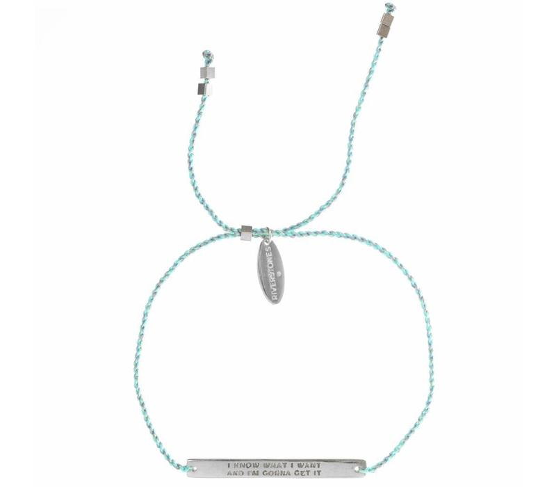 Own it bracelet Zilver