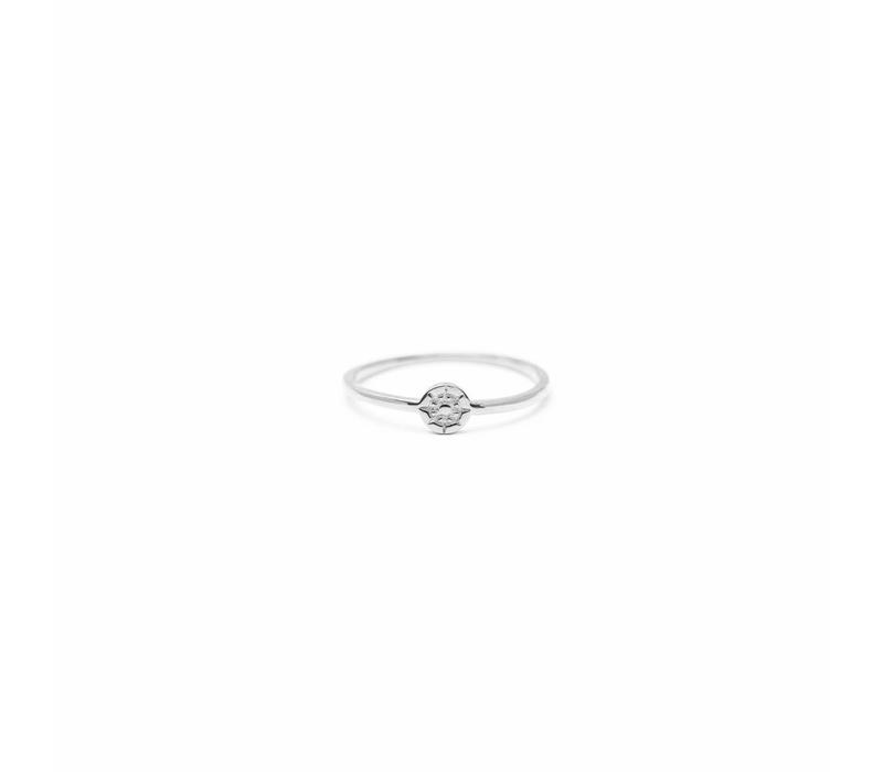 Compass Ring Silver