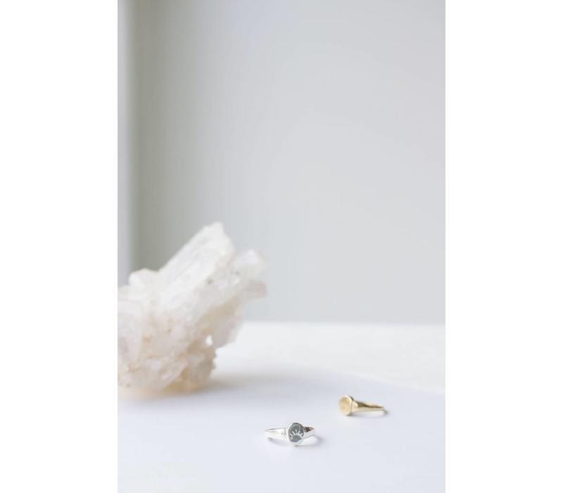 Unwind Signet Ring Silver