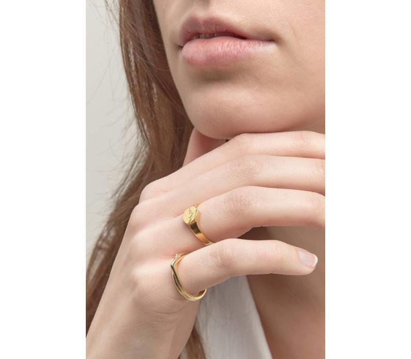 Scenic Signet Ring Goud