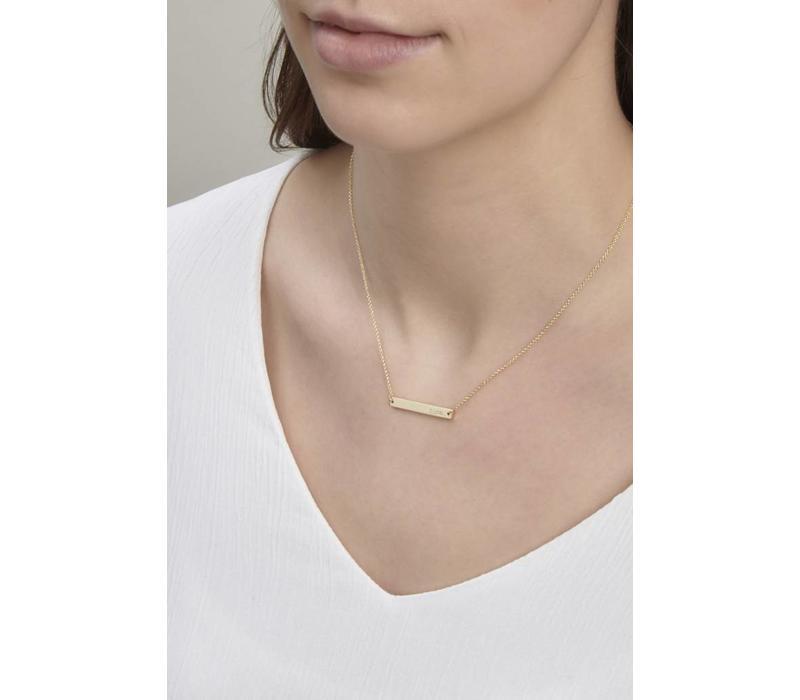 Ssshh Necklace Gold