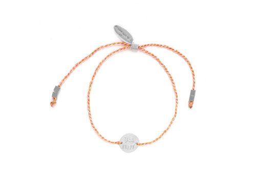 Think Happy Bracelet Silver