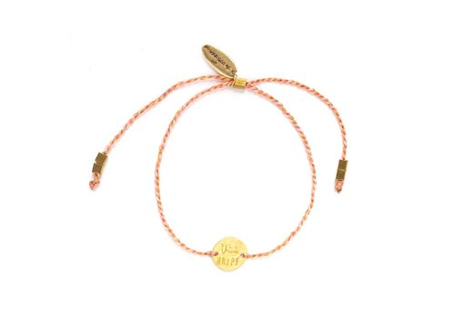 Think Happy Armband Goud