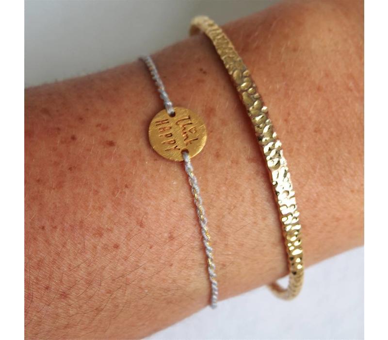 Think Happy Bracelet Gold