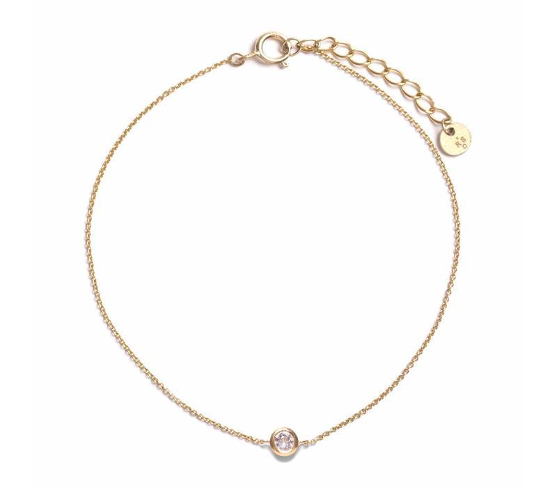 Crystallized Armband 18krt Goud