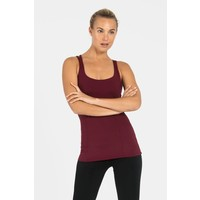 Dharma Bums Prana Flow Sports Tank - Wine