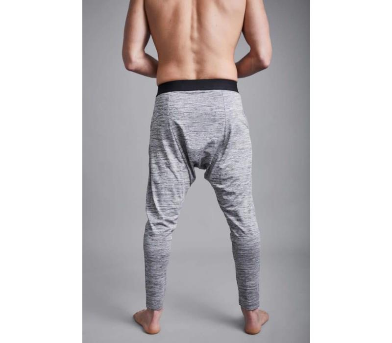 Ohmme Matsyendra Fisherman Yoga Pants - Grey